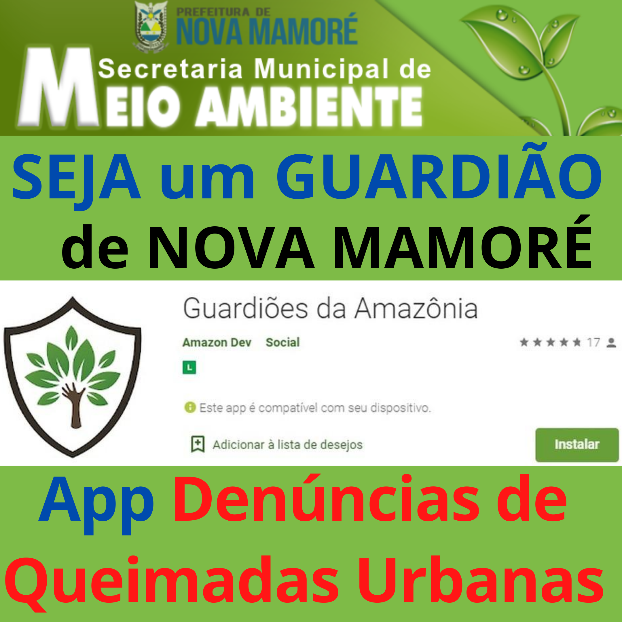 App para denúncia de queimadas urbanas é disponibilizado em Nova Mamoré – RO